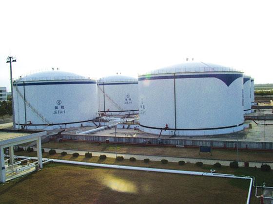 6X2万立方米航空煤油库储罐-罐群规模最大的-上海浦东国际航空油料有限责任公司