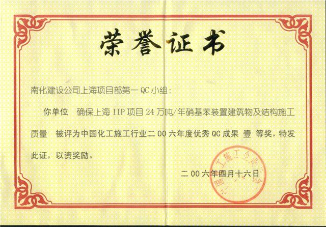 国家级QC  上海IIP项目