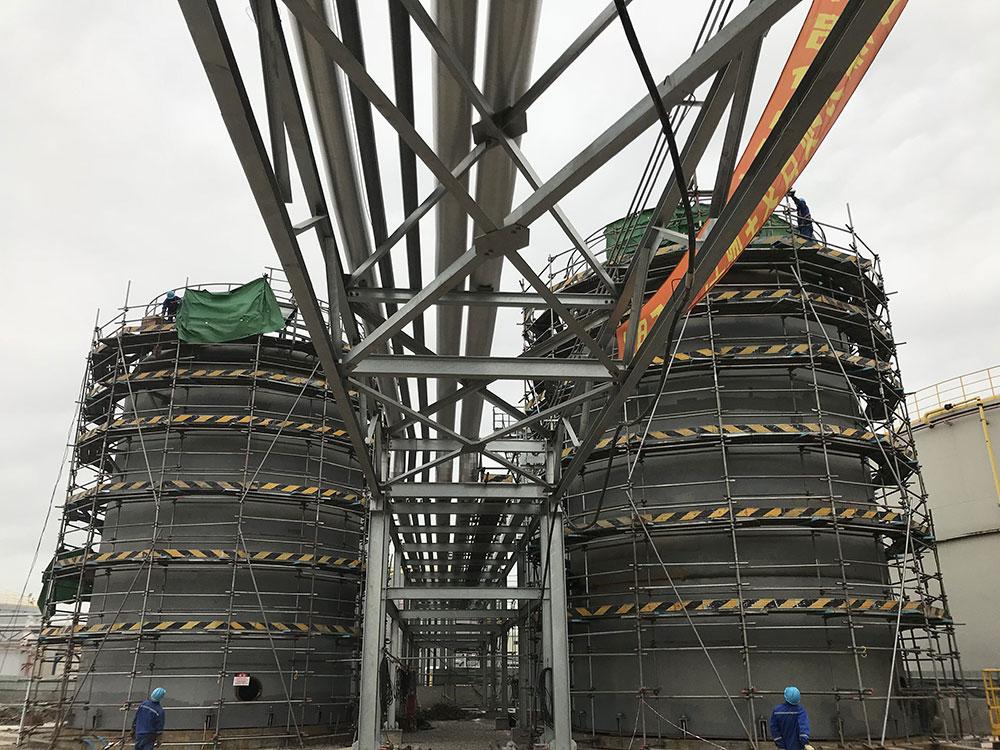 埃克森美孚TCMB项目新建管廊及F1533和1535储罐