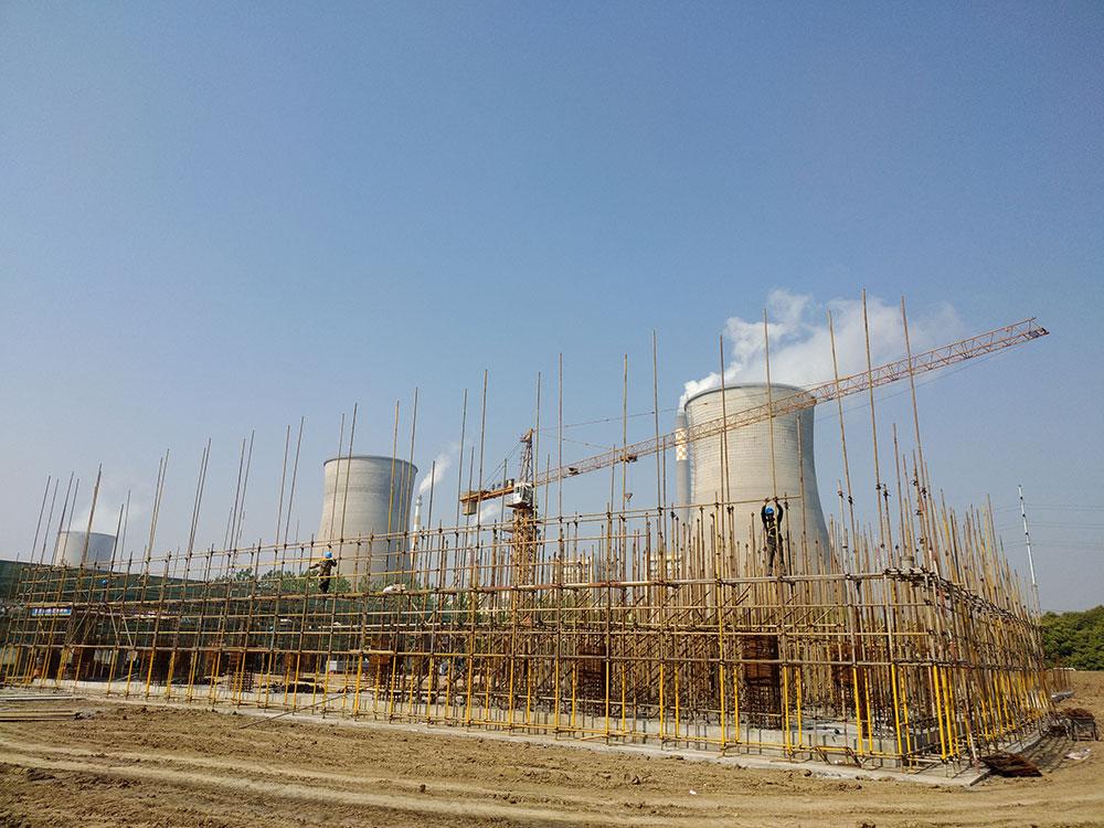 柯菲平原料药项目三层车间施工中