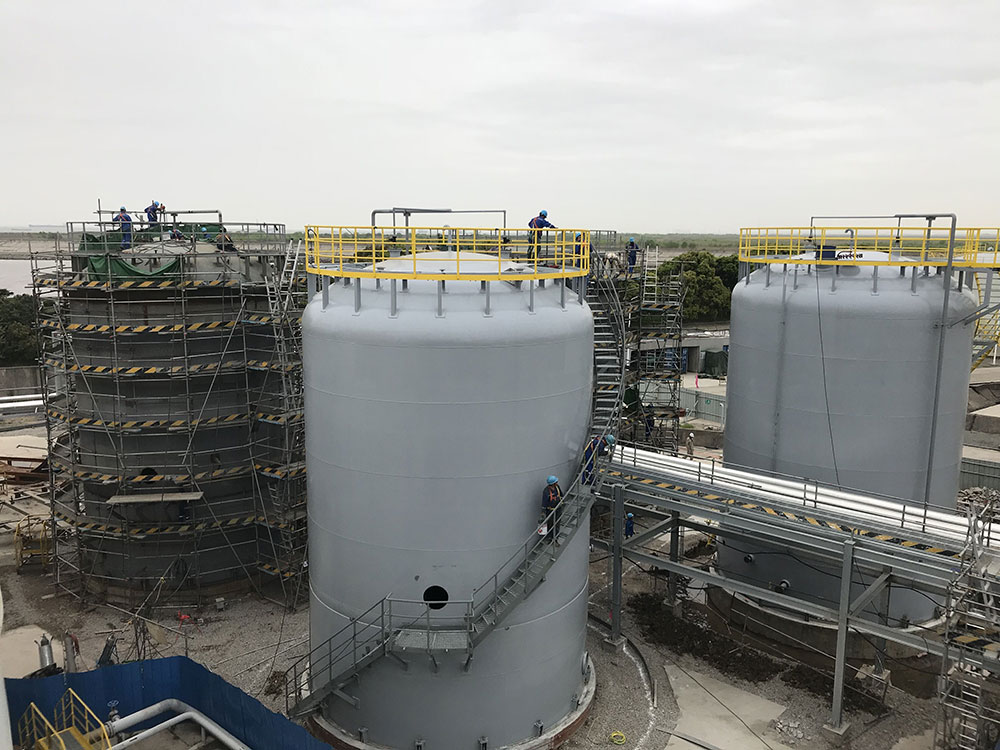 Exxon Mobil Corporation TCMB Project Completed F1534 and 1536 storage tanks